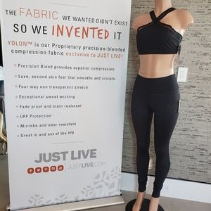 NWT Just Live Show Off Halter Sports Bra